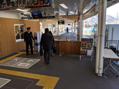 大月駅の乗り換え改札