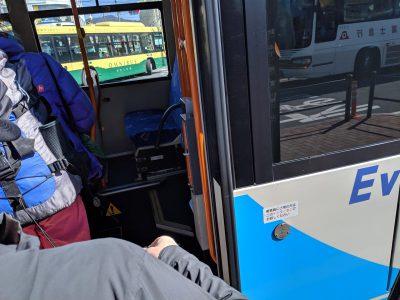 新富士駅行きのバスに乗車