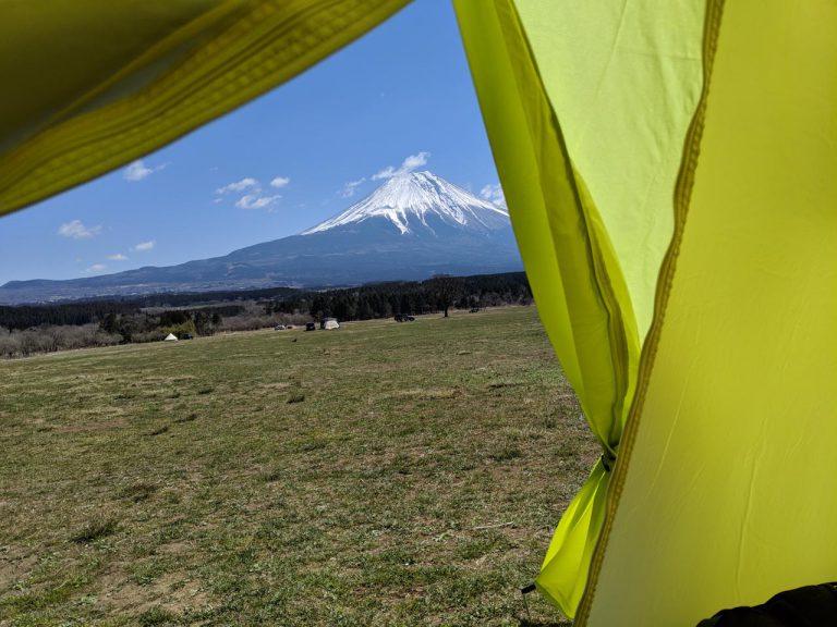 テント内からの眺め