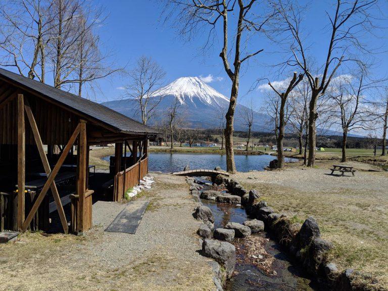 場内の散策:逆さ富士スポット