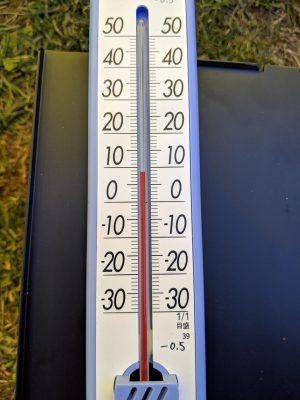 外気温8℃くらい