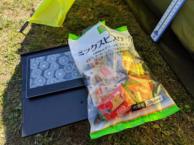 Kindle Oasysとお菓子