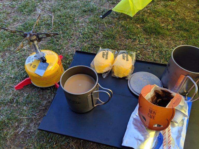 おやつ:コーヒーとレモンケーキ