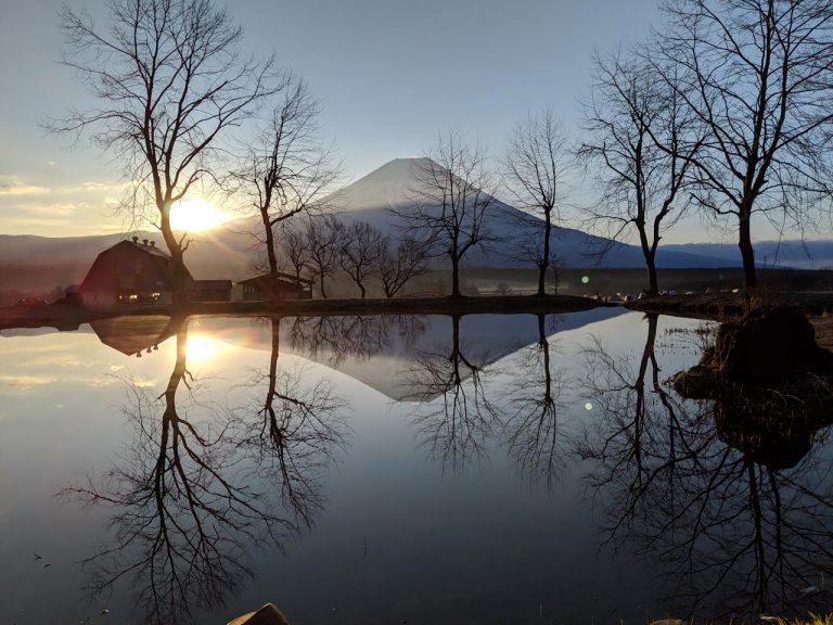 モーニング逆さ富士