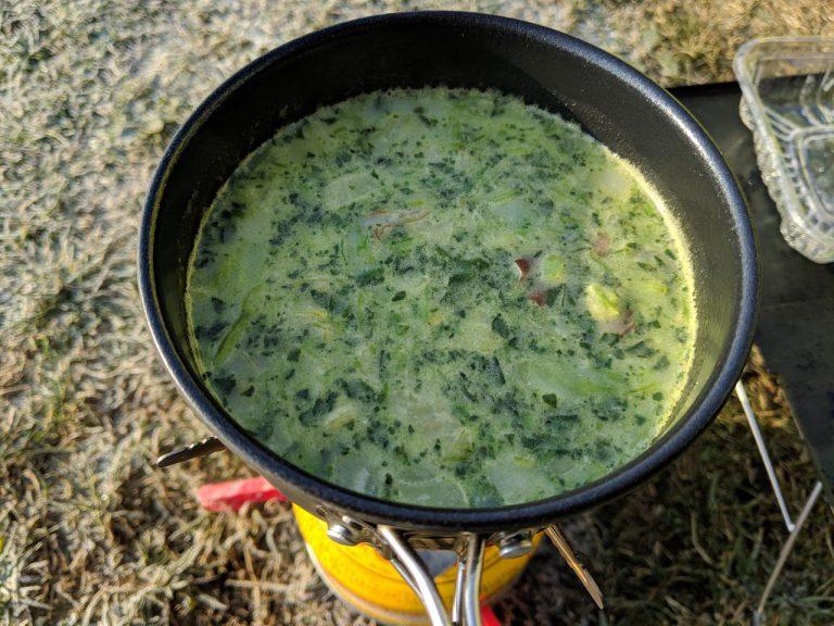 朝食:スープ