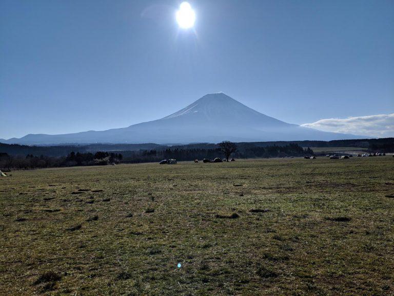 雲が取れた富士山