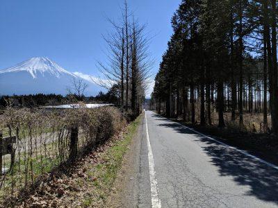 キャンプ場脇の道