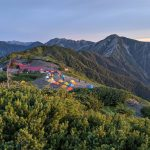 上高地から登る北アルプスの展望地、蝶ヶ岳テント泊