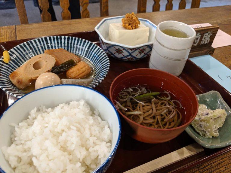 みちくさ食堂のおでん定食(1200円)