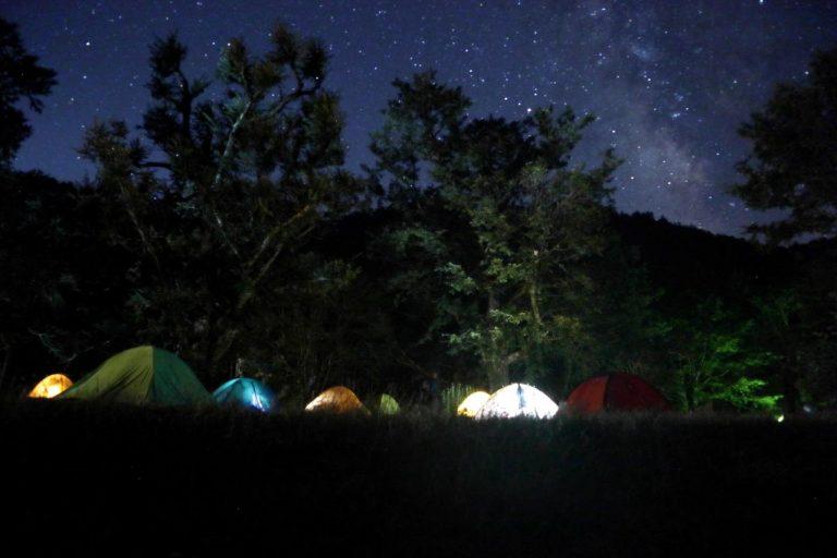 テントと天の川