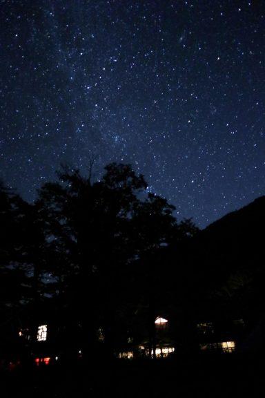 徳沢園と星空