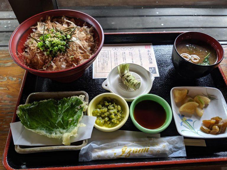 本わさび丼(980円)