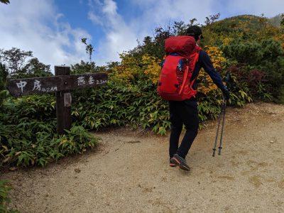 合戦沢ノ頭 中房まで4.2km、燕岳まで2.3km