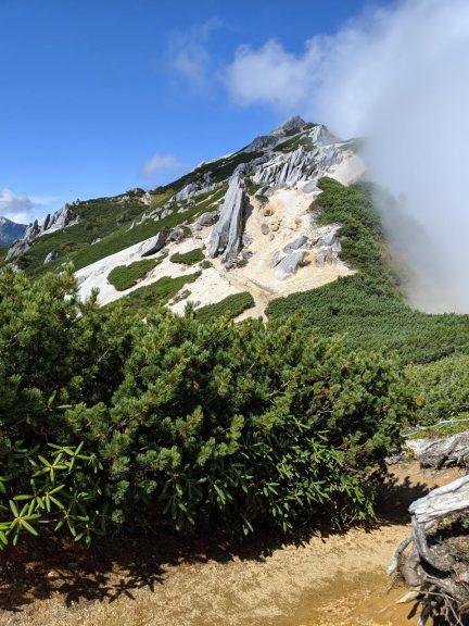 花崗岩の石塔がいっぱい
