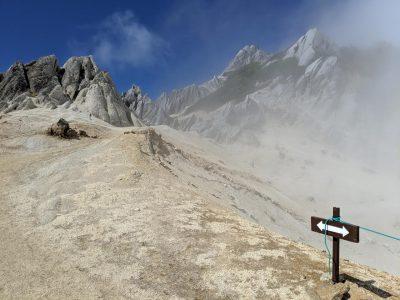 燕山荘から燕岳への道