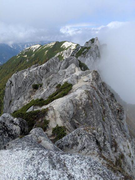 北燕岳から見える眺め