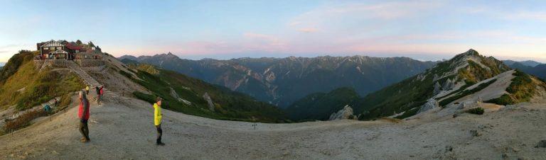 夜明け前の西側パノラマ