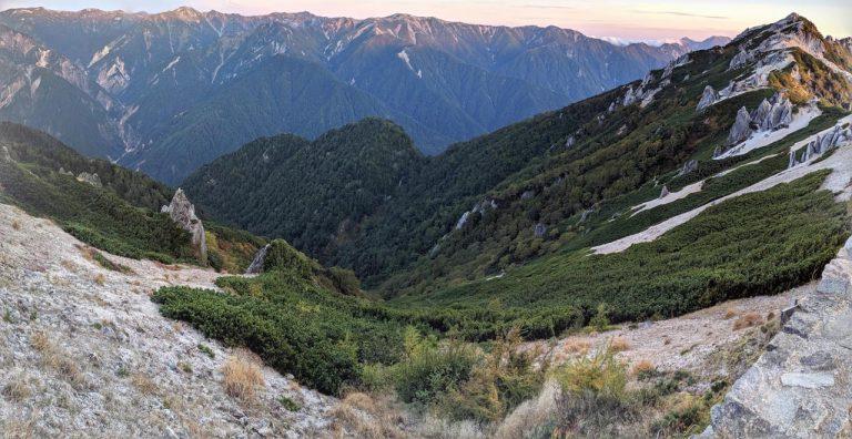 夜明け 燕岳方向