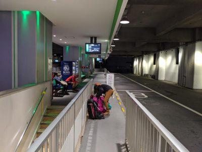 松本バスターミナル上高地行き乗り場