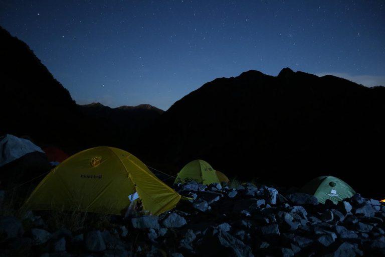 夜のテント場