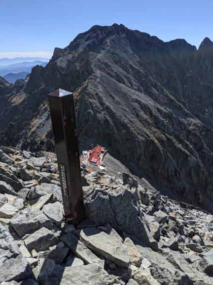 涸沢岳頂上から見た奥穂高岳