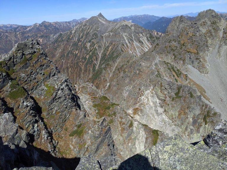 涸沢岳から北側の眺め