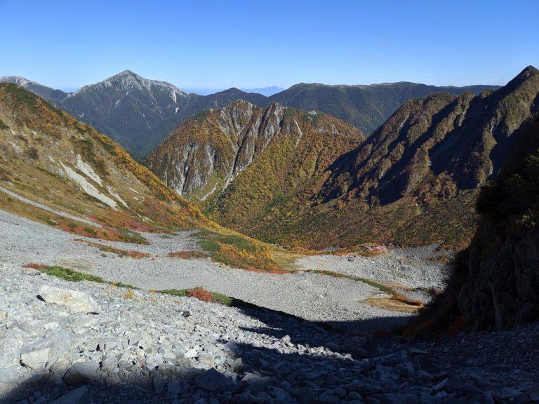 穂高岳山荘→涸沢