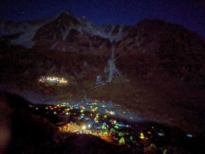 ヒュッテから見える夜景