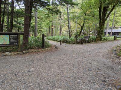 小梨平キャンプ場入口