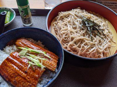 そば・うな丼セット(1600円)