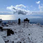 初雪直後の黒岳~越前岳(愛鷹山)、富士山は見えなかったけどまあいいか