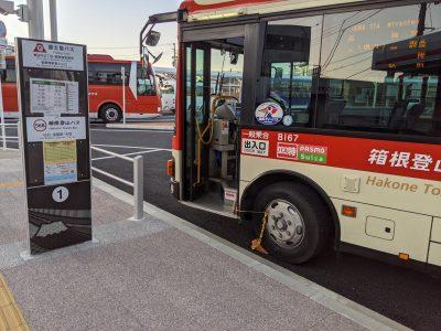御殿場駅 箱根乙女口 1番バス乗り場
