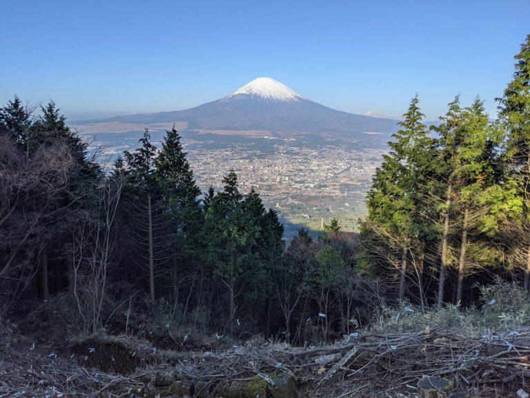 乙女峠から見える一番大きな富士山