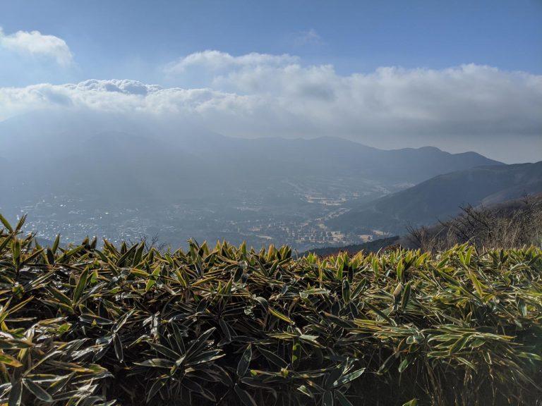 長尾山→金時山 右手側(箱根方面)の眺望