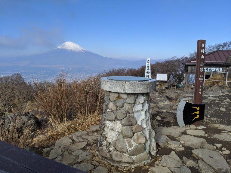 展望盤と富士山