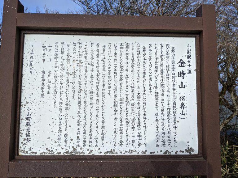 金時山案内板(小山町観光協会)