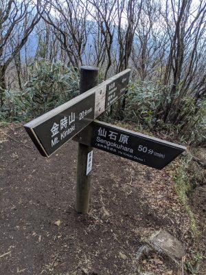 金時山、金時神社、矢倉沢峠分岐