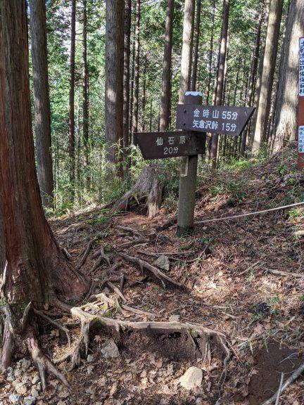 曲がり角の標識