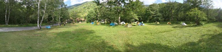 テント場の様子パノラマ