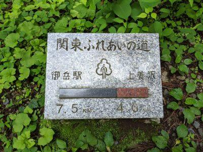 関東ふれあいの道標識