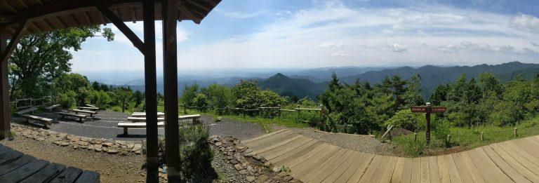 日の出山山頂からの眺望(パノラマ)