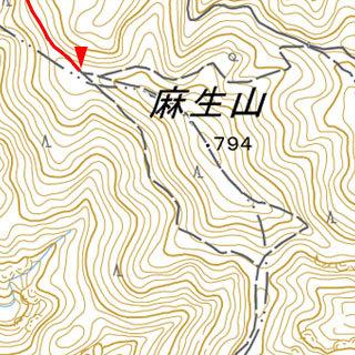 麻生山手前分岐
