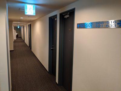 ホテル飯田屋の廊下