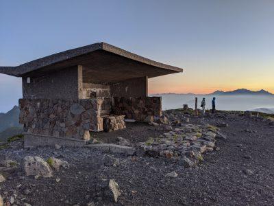 大黒岳の休憩所