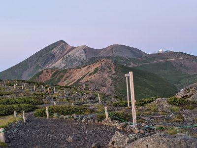 大黒岳から見た摩利支天岳~剣ヶ峰
