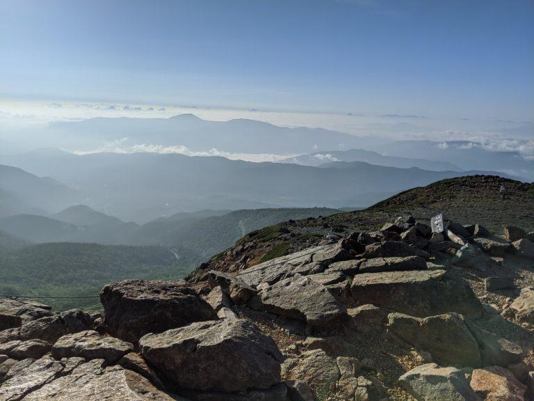 富士見岳から見たエコーライン方面