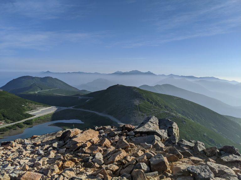 富士見岳から見た穂高連峰
