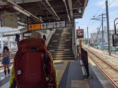 松本駅上高地線ホーム