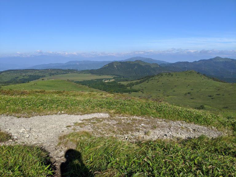 南の耳から八島ヶ原湿原の方向
