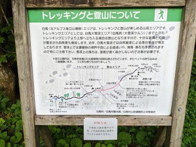 猿倉 トレッキングと登山